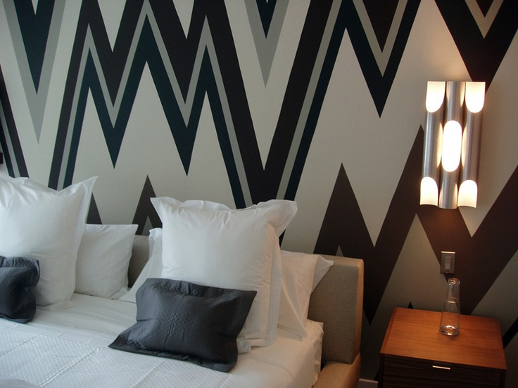 graphic wall paint is the current trend in interior design