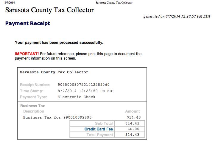 Sarasota County Tax Collector