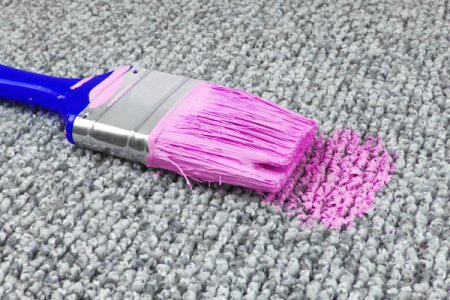 how to remove paint stains from carpet